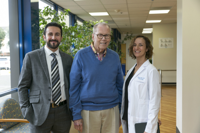 Richard Williams, Center, With His Care Team: Patrick Pezeshkian, MD, And Rima Ash, MD.
