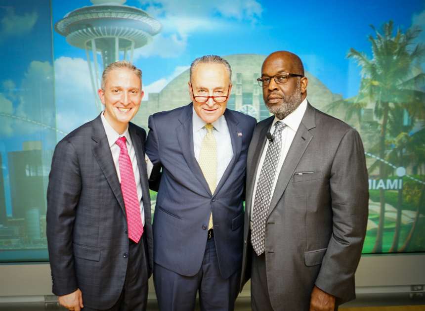 From Left: Stephen Parodi, MD, Executive Vice President Of The Permanente Federation; U.S. Sen. Chuck Schumer; And Bernard Tyson, CEO, Kaiser Foundation Health Plan/Hospitals.