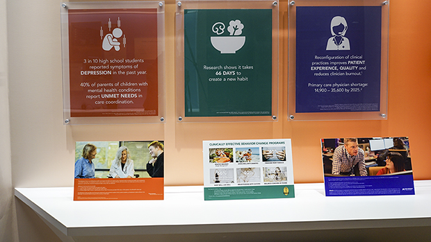 Some Of The Work From The Center For Healthy Living On Display At Kaiser Permanente Center For Total Health In Washington, DC.