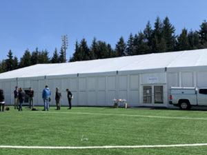 washington tent facility for covid