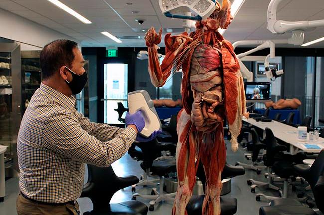 Man Scanning Cadaver